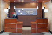 Arlington Texas Hotel Holiday Inn Express Hotel and Suites Front Desk